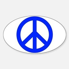 Blue White Peace Sign Decal