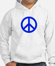 Blue White Peace Sign Hoodie