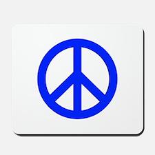 Blue White Peace Sign Mousepad