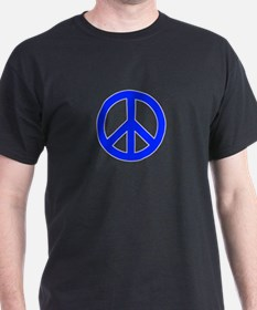 Blue White Peace Sign T-Shirt