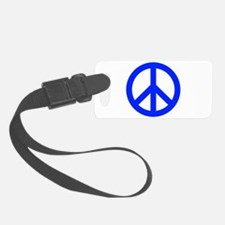 Blue White Peace Sign Luggage Tag