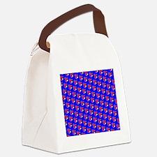 Blue Red Cute Lobster Designer Canvas Lunch Bag