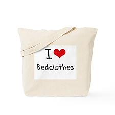 I Love Bedclothes Tote Bag