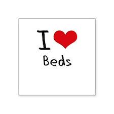 I Love Beds Sticker