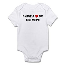 Heart on for Ciera Infant Bodysuit
