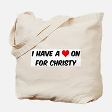 Heart on for Christy Tote Bag