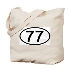 Number 77 Oval Tote Bag