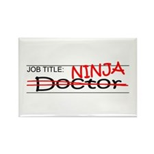 Job Ninja Doctor Rectangle Magnet