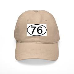 Number 76 Oval Baseball Cap