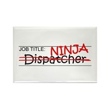 Job Ninja Dispatcher Rectangle Magnet
