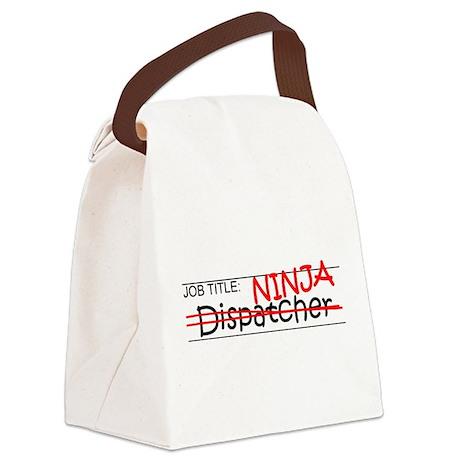 Job Ninja Dispatcher Canvas Lunch Bag