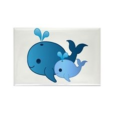 Baby Whale Rectangle Magnet