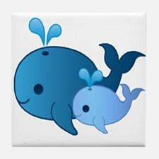 Baby Whale Tile Coaster