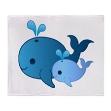 Baby Whale Throw Blanket