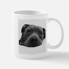 Awesome Pitbull Face Black and White Mug