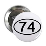 Number 74 Oval Button
