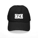 Number 74 Oval Black Cap