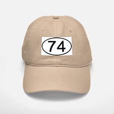 Number 74 Oval Baseball Baseball Cap