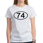 Number 74 Oval Women's T-Shirt