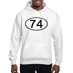 Number 74 Oval Hoodie