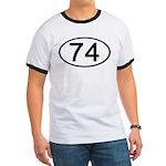 Number 74 Oval Ringer T