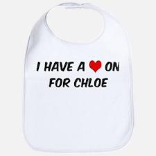 Heart on for Chloe Bib