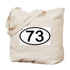 Number 73 Oval Tote Bag