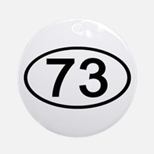 Number 73 Oval Ornament (Round)