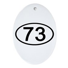 Number 73 Oval Oval Ornament