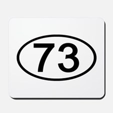 Number 73 Oval Mousepad