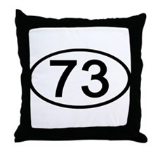 Number 73 Oval Throw Pillow