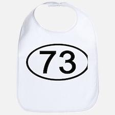Number 73 Oval Bib