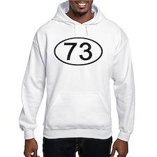 Number 73 Oval Hoodie