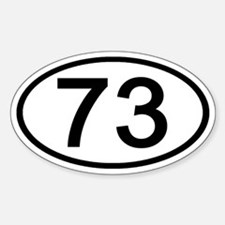 Number 73 Oval Oval Decal