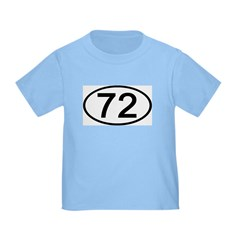 Number 72 Oval T