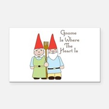 Where The Heart Is Rectangle Car Magnet