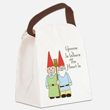 Where The Heart Is Canvas Lunch Bag