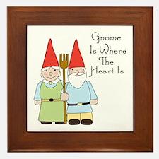 Where The Heart Is Framed Tile