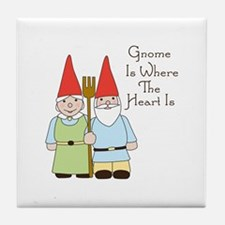 Where The Heart Is Tile Coaster
