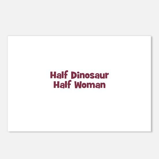 Half DINOSAUR Half Woman Postcards (Package of 8)