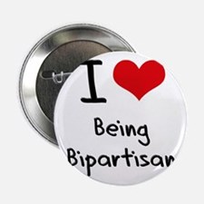 """I Love Being Bipartisan 2.25"""" Button"""