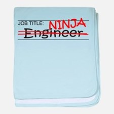 Job Ninja Engineer baby blanket