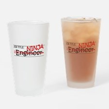 Job Ninja Engineer Drinking Glass