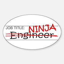 Job Ninja Engineer Sticker (Oval)