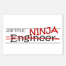 Job Ninja Engineer Postcards (Package of 8)