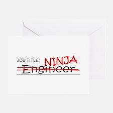 Job Ninja Engineer Greeting Card