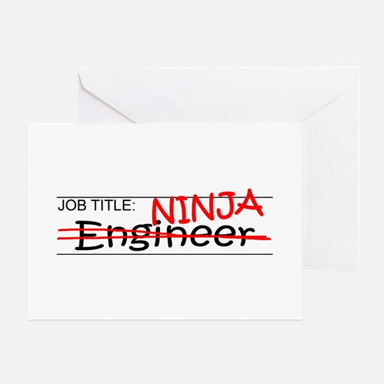 Job Ninja Engineer Greeting Card