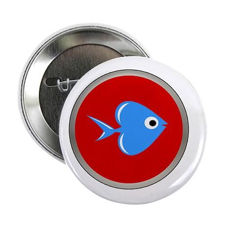 """Fish Love 2.25"""" Button"""