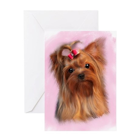 Blank Yorkshire terrier Greeting Card