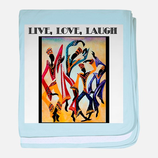 Live, Love, Laugh .png baby blanket
